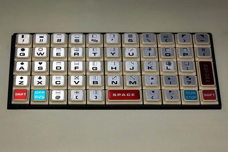 Tastaturet til Commodore PET2001 var på størrelse med håndflaten din. Foto: Wikimedia