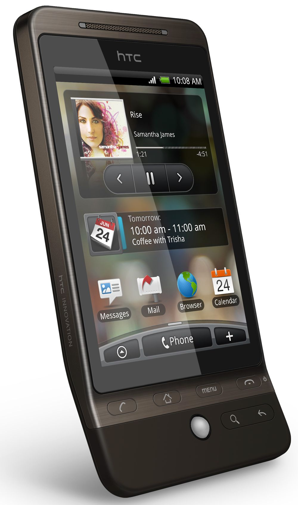 Sense kommer med HTC Hero.