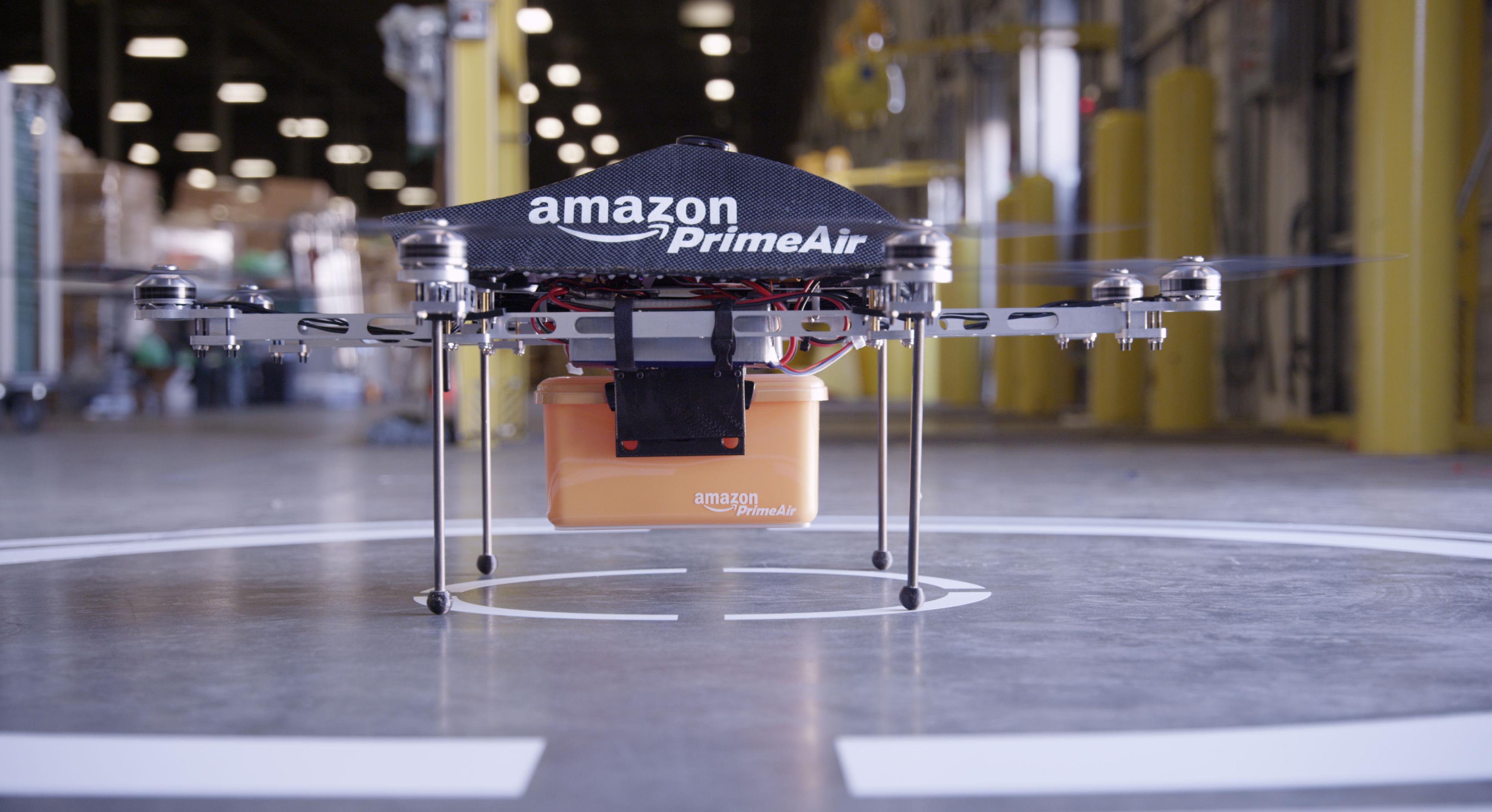 Slik ser de kommende leveringsdronene til Amazon ut.Foto: Amazon