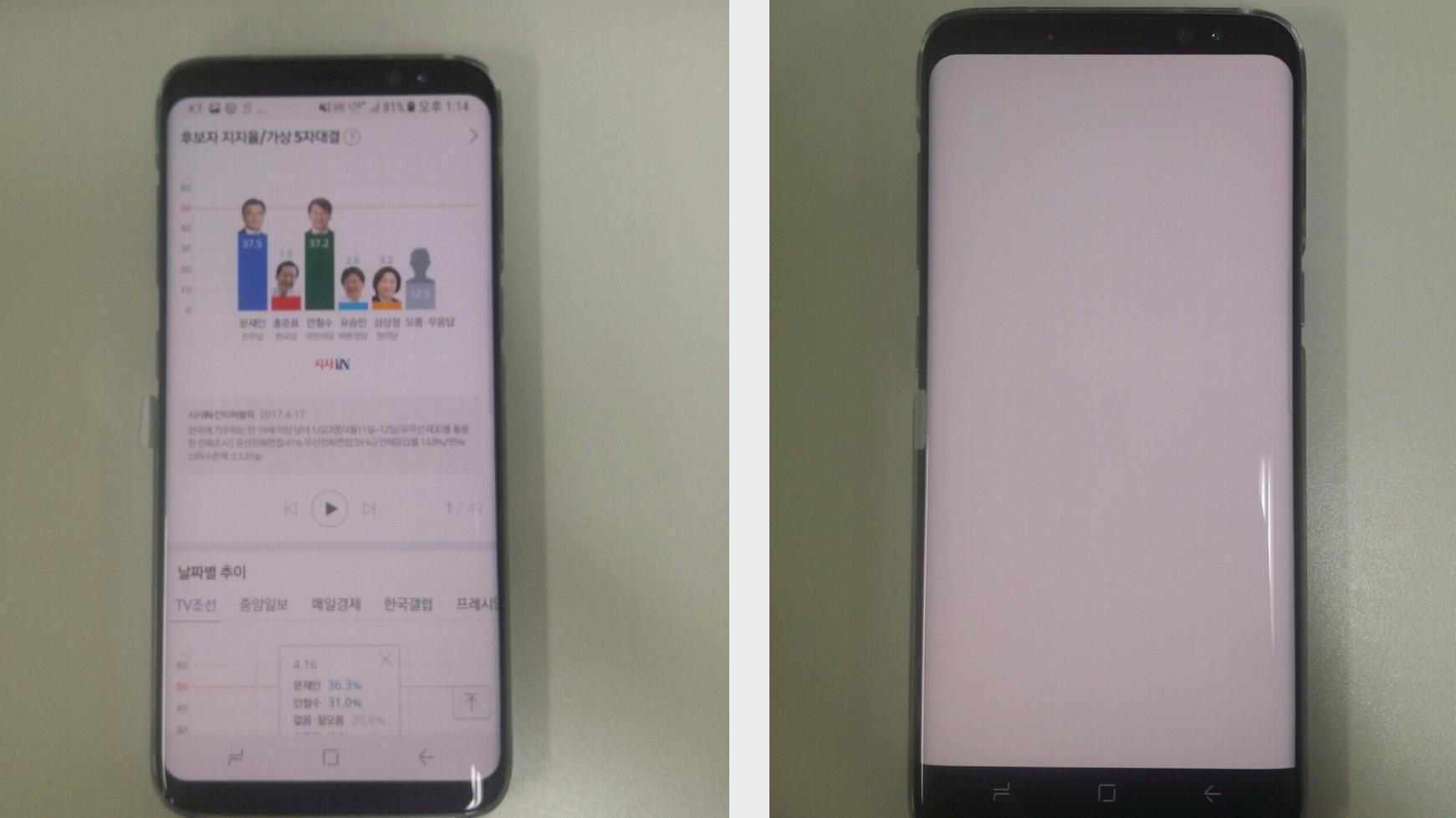 Noen av de aller første Galaxy S8-eierne klager over at skjermen har et rødt skjær