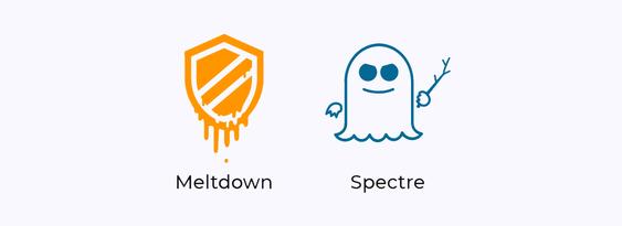 Sikkerhetsproblemet kalt Spectre (spøkelse) har fått sitt navn ettersom feilen er så vanskelig å bli kvitt at den trolig vil «hjemsøke» bransjen i lang tid. Meltdown (nedsmelting) blir kalt dette ettersom feilen «smelter bort» sperrer som egentlig skal ligge i maskinvaren.