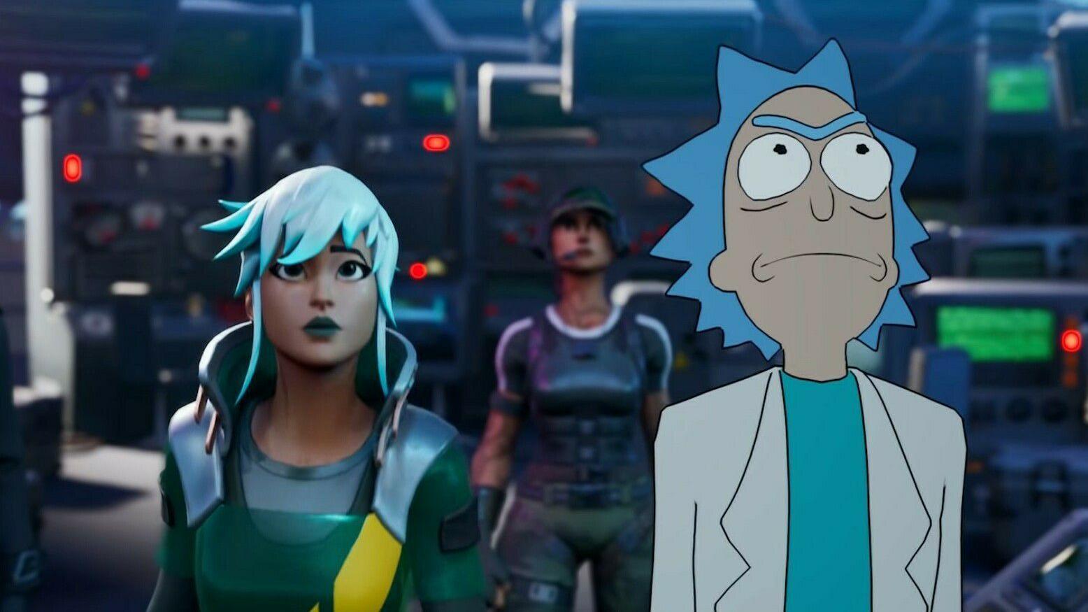 Fortnite møter Rick and Morty i skytespillets nyeste sesong