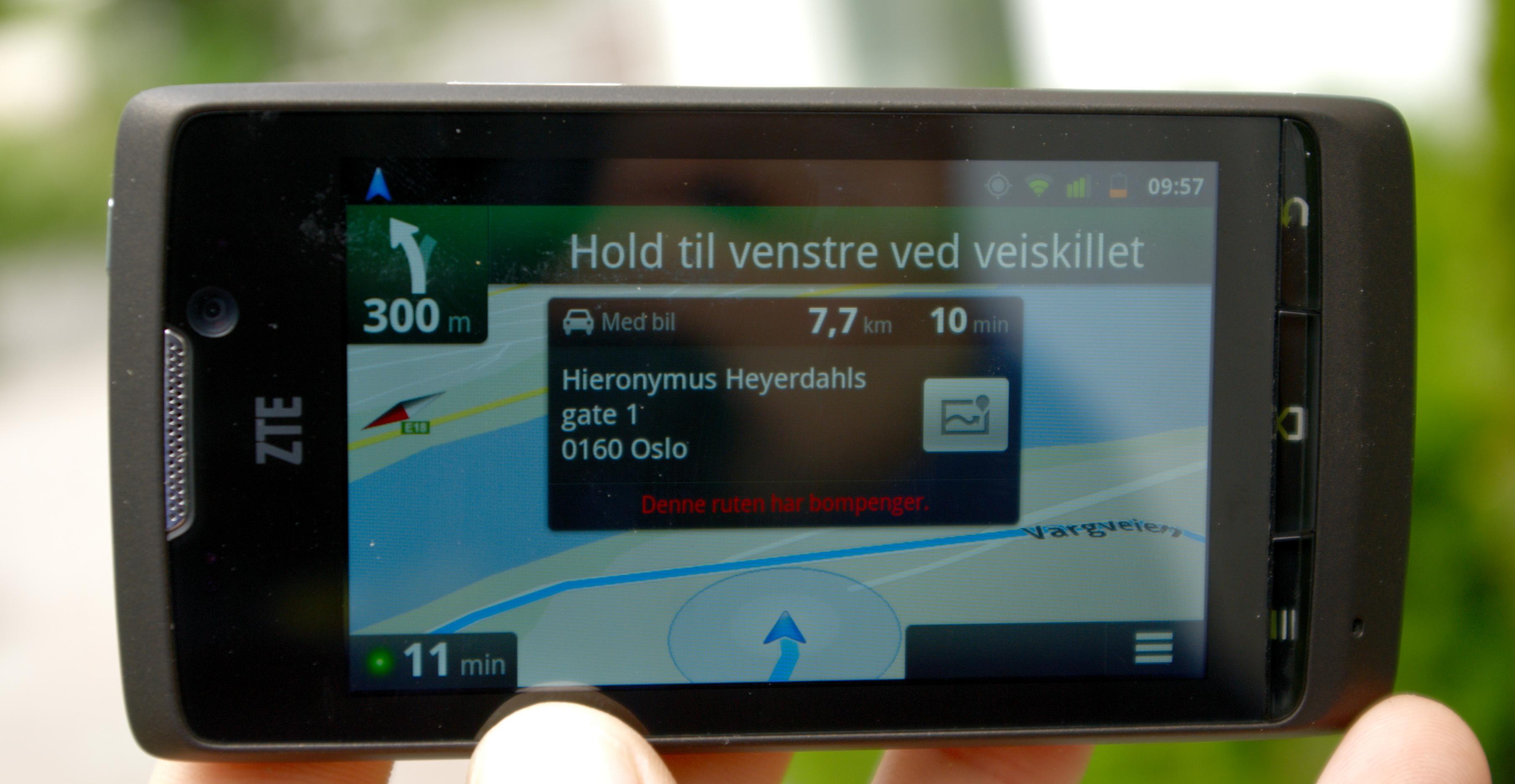 Full bilnavigasjon er på plass.Foto: Einar Eriksen