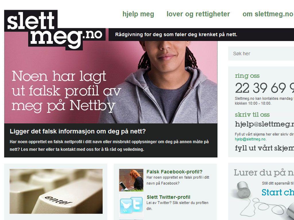 SlettMeg.no hjelper til med informasjon om hvordan du kan fjerne ting du ikke liker fra nett. (Faksimile)
