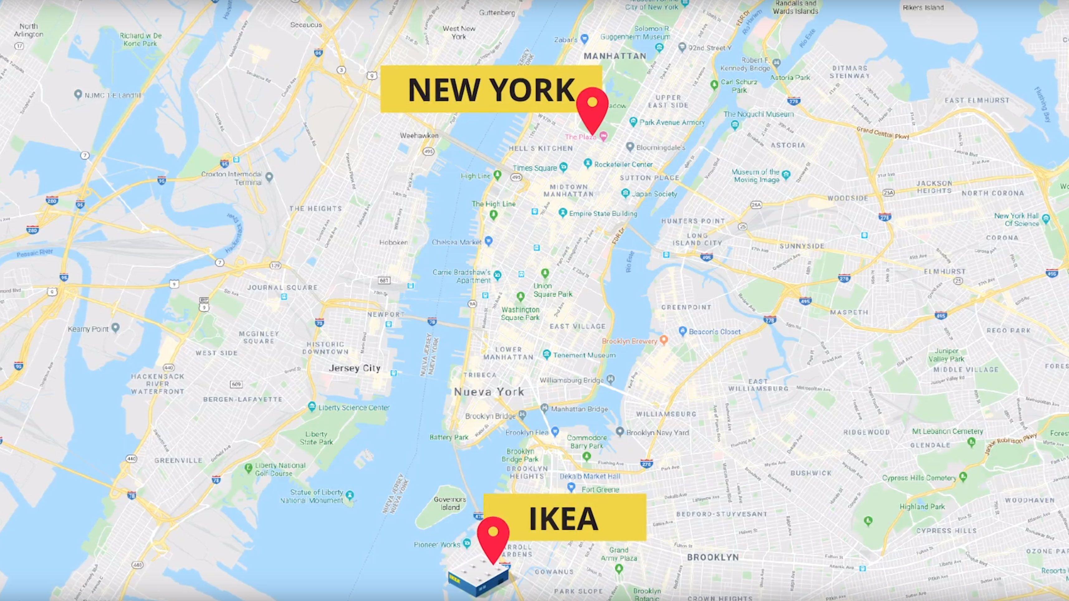 Ikea testet bonusordning med Google Maps