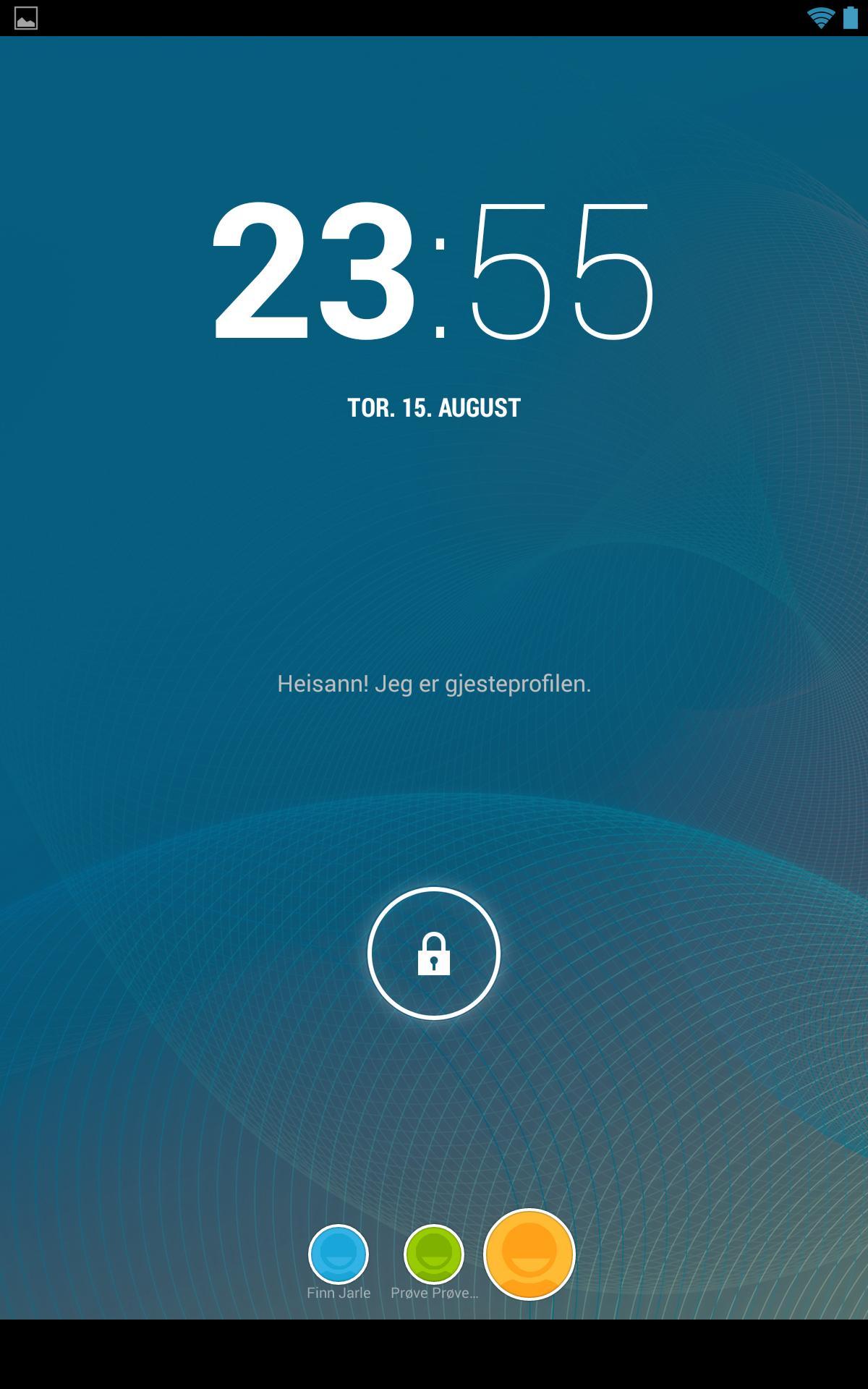 ... og slik ser låseskjermen ut når du har lagt inn flere kontoer.Foto: Finn Jarle Kvalheim, Amobil.no