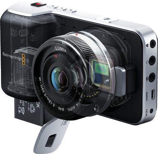 Black Magic Pocket Cinema Camera er ikke særlig stort.