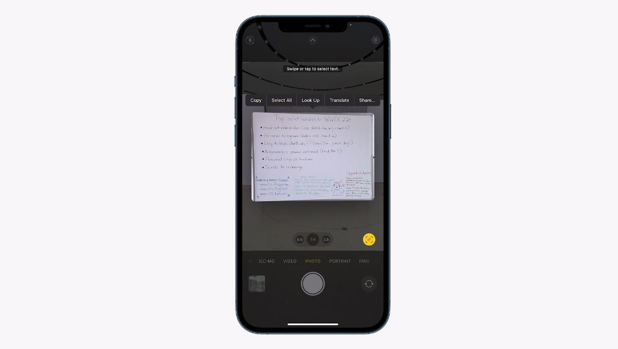 iPhone skal snart kunne gjenkjenne tekst.
