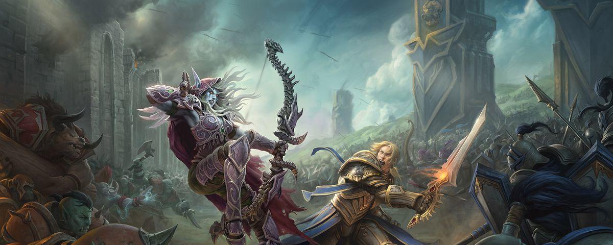 Lady Sylvanas leder frontlinjen for Horde, mens Kong Anduin Wrynn må gjøre det samme for Alliance.