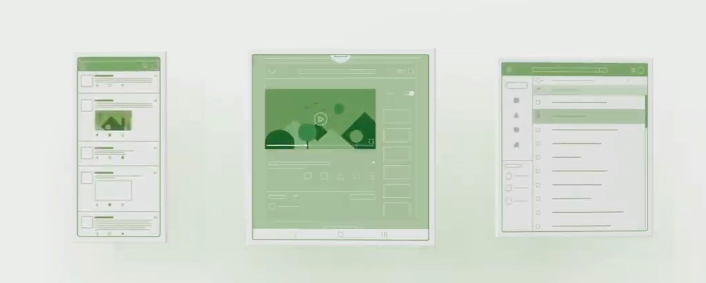 Hele operativsystemet skal lages for at du kan ha en mobilskjerm som brettes, fra liten til stor, som skal sømløst skalere innholdet.