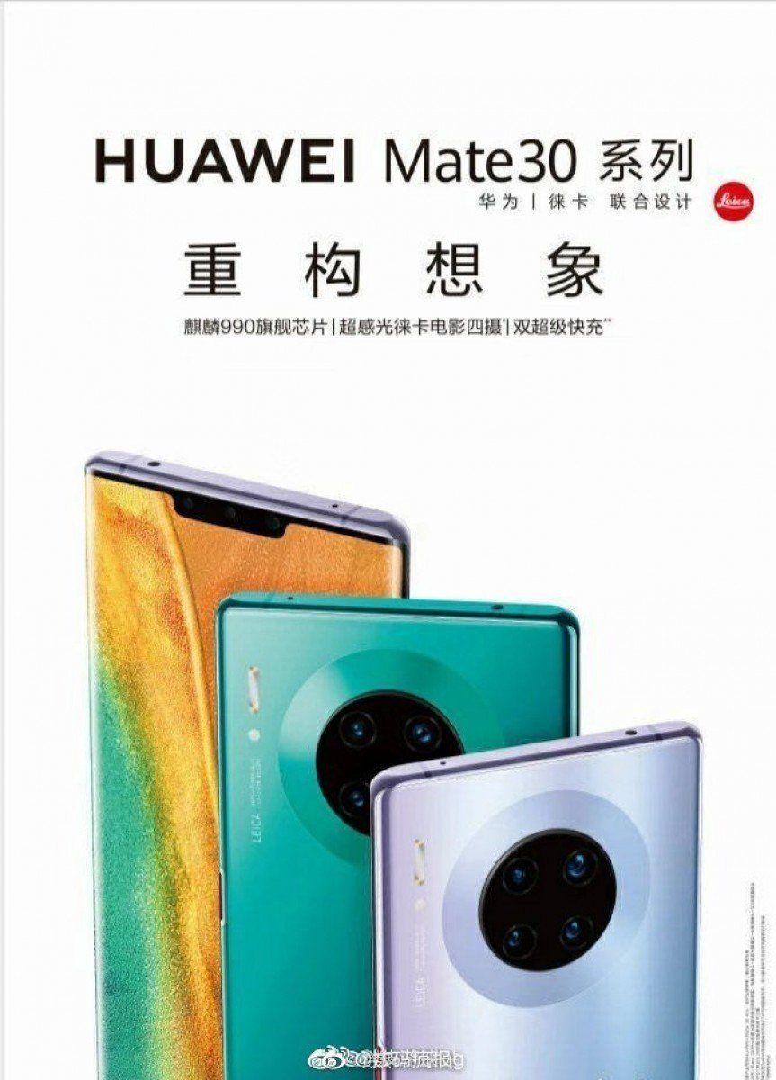 Dette skal være en lekket reklameplakat for Mate 30 Pro. Den kan bli vingeklippet allerede fra start.