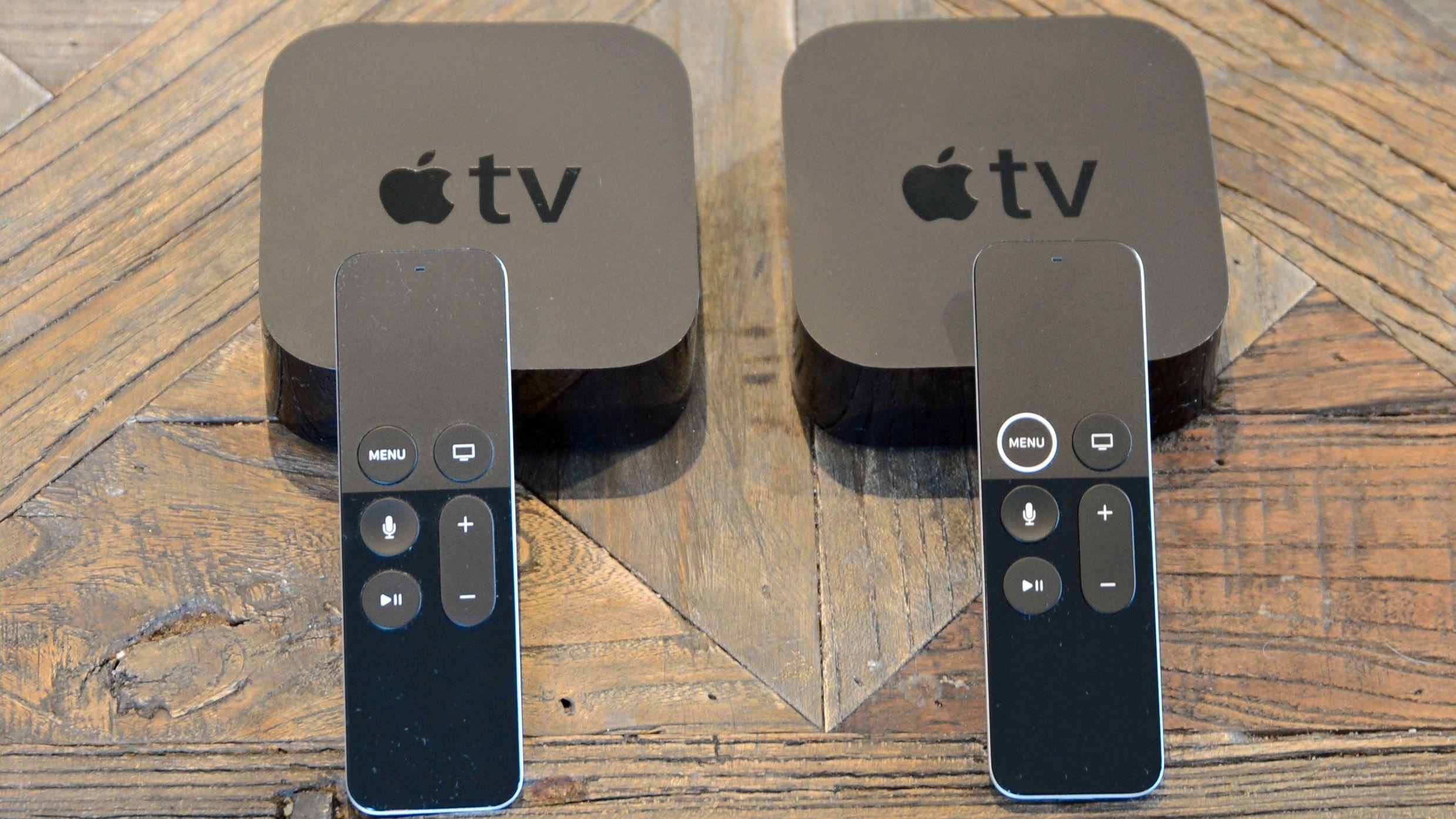 De moderne Apple TV-boksene, i henholdsvis 4. og 5. generasjon der sistnevnte har 4K-støtte. De er så godt som like for alle praktiske formål utenom oppløsning og HDR-støtte. Men nå begynner også den nyeste av disse å dra på åra.