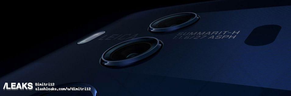 Kameradelen av baksiden har fortsatt Leica-merkingen. Men viktigere; lysstyrken i glasset er helt nede i f/1.6. Legg merke til båndet som huser kameraene. Det er identisk med det som har dukket opp i andre ryktebilder.