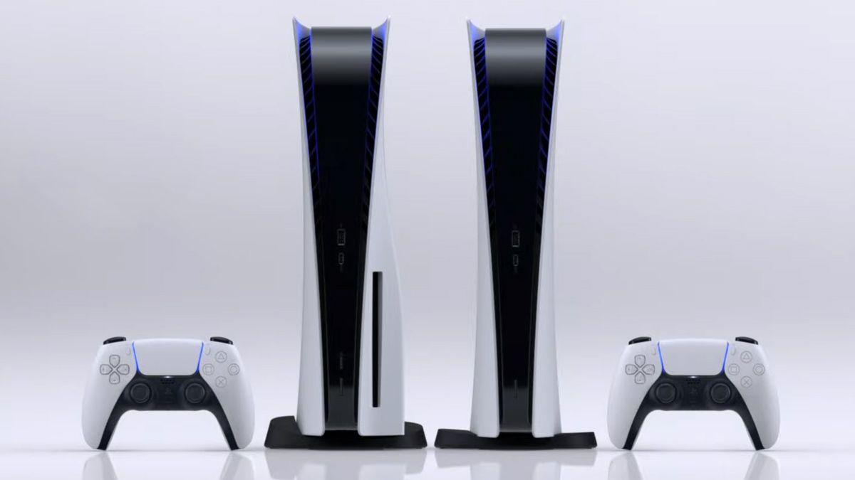 Playstation 5 med og uten diskdrev.