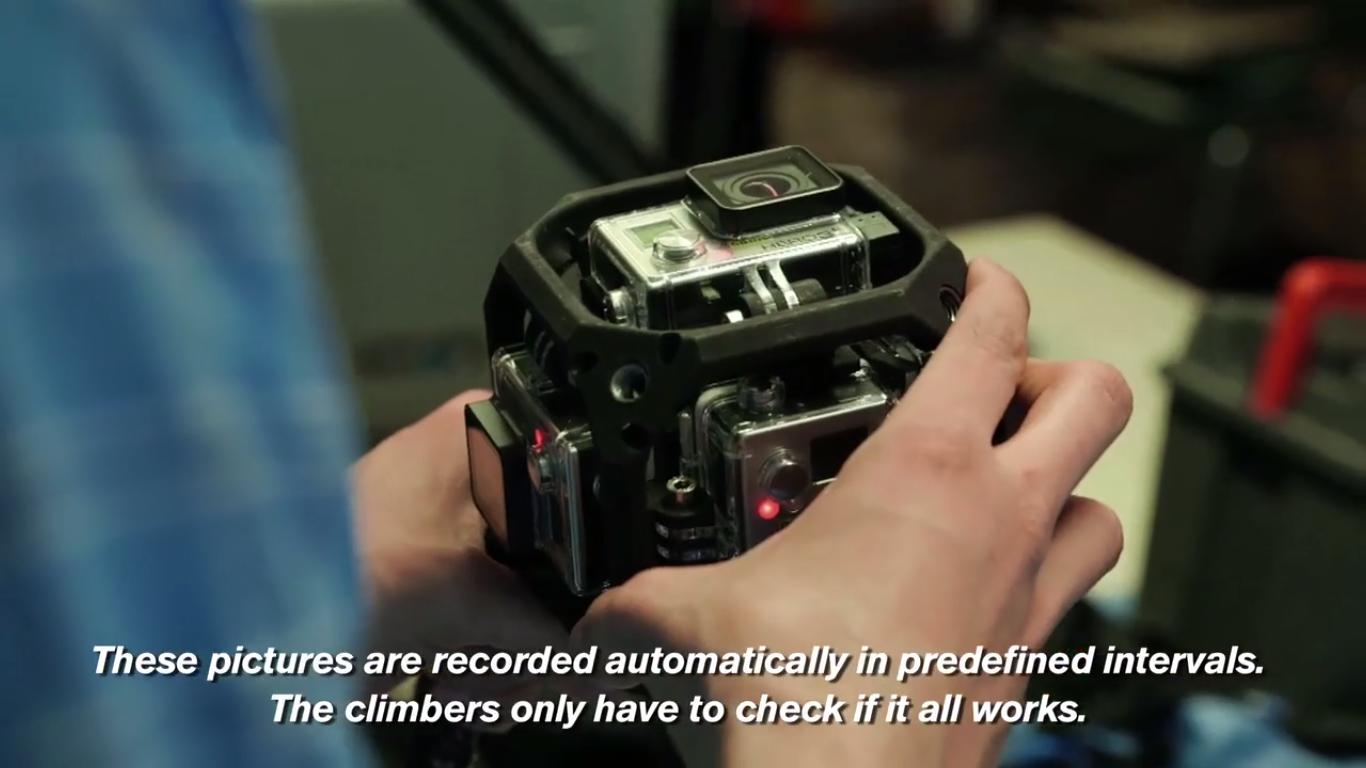 Slik så riggen med seks GoPro-kameraer ut.Foto: Vimeo