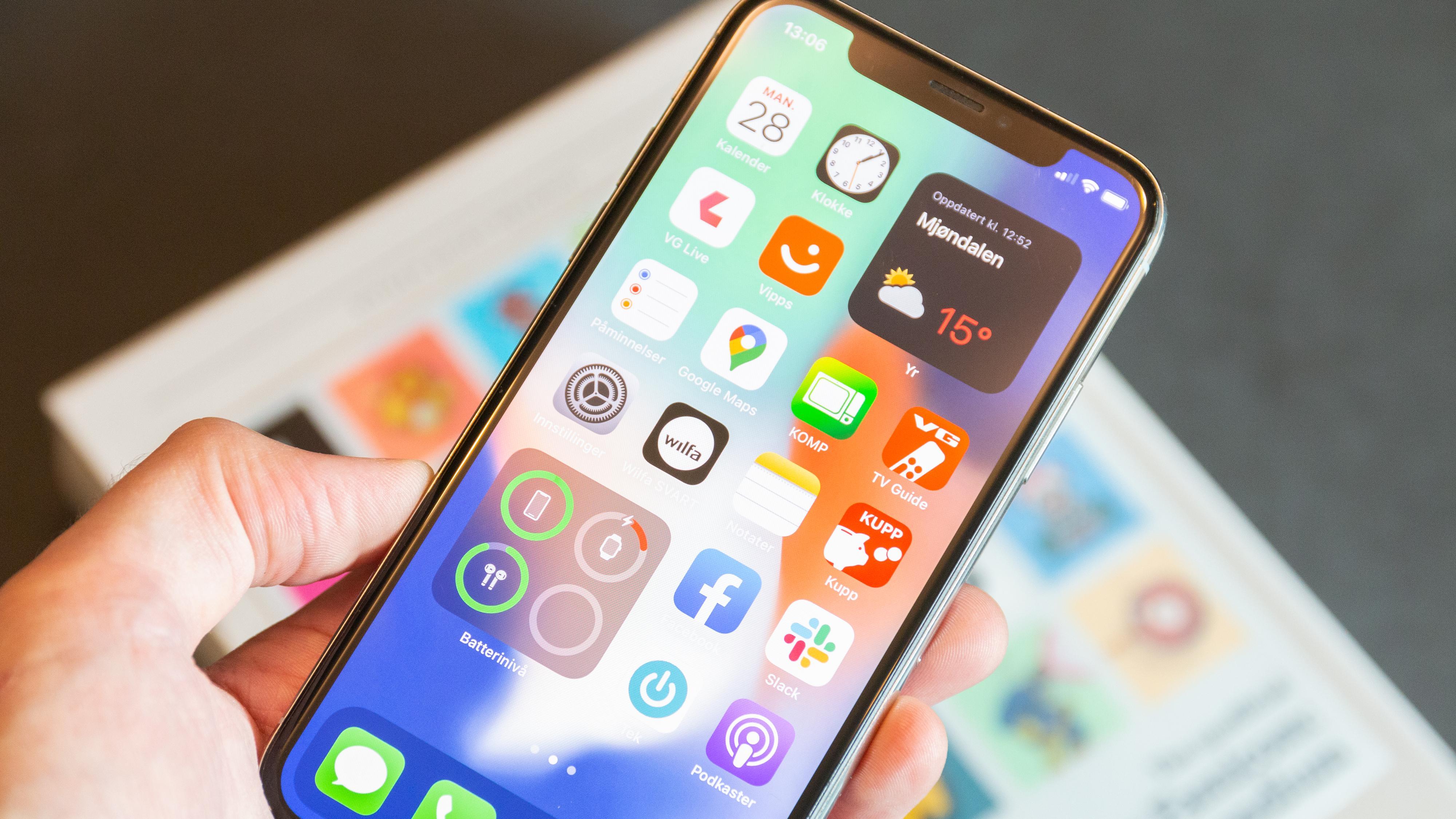 Slik får du en pen hjemskjerm med «widgets» på iPhone
