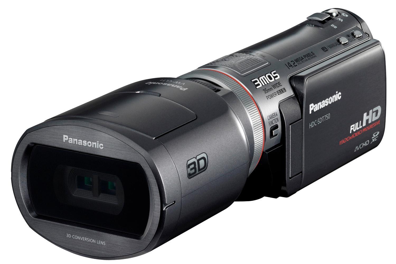 Panasonic SDT750 med 3D-forsats.
