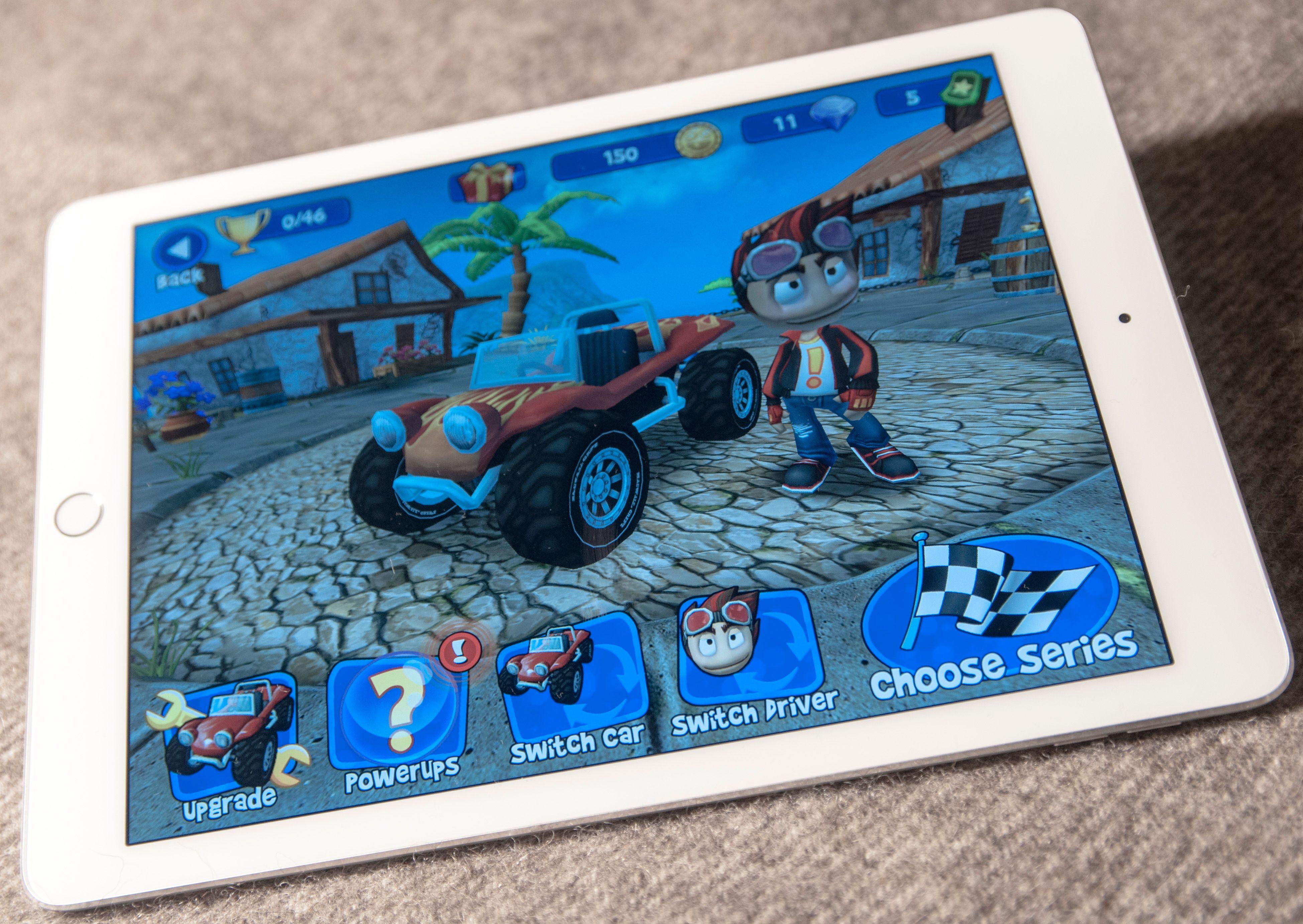iPad Air 2 er rett og slett en fortreffelig spillmaskin. På sitt beste blir grafikken påfallende naturtro, men også spill med tegneserieaktig grafikk kan dra nytte av hestekreftene under skjermen.Foto: Finn Jarle Kvalheim, Tek.no