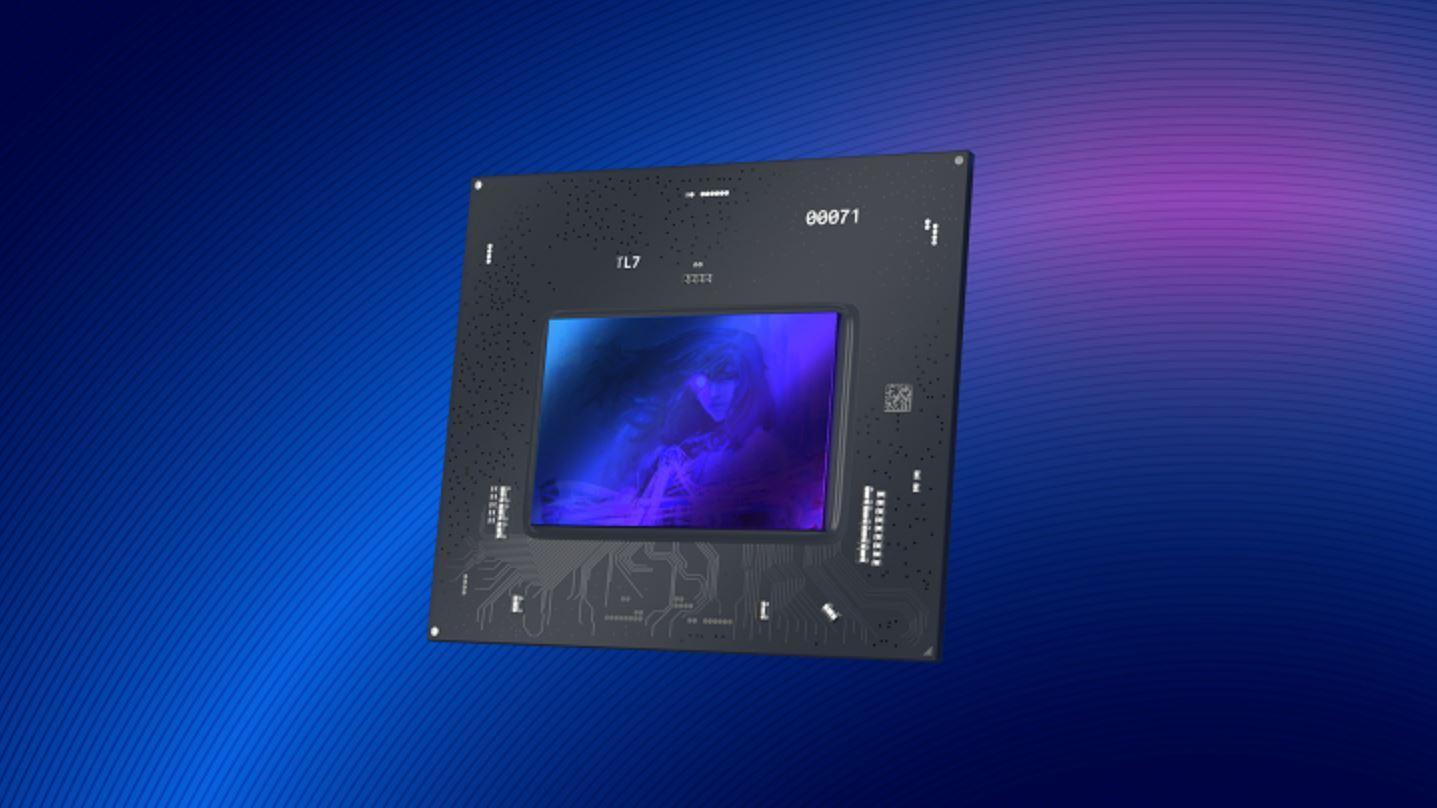 En 3D-render av Intels kommende Alchemist-grafikkbrikke.