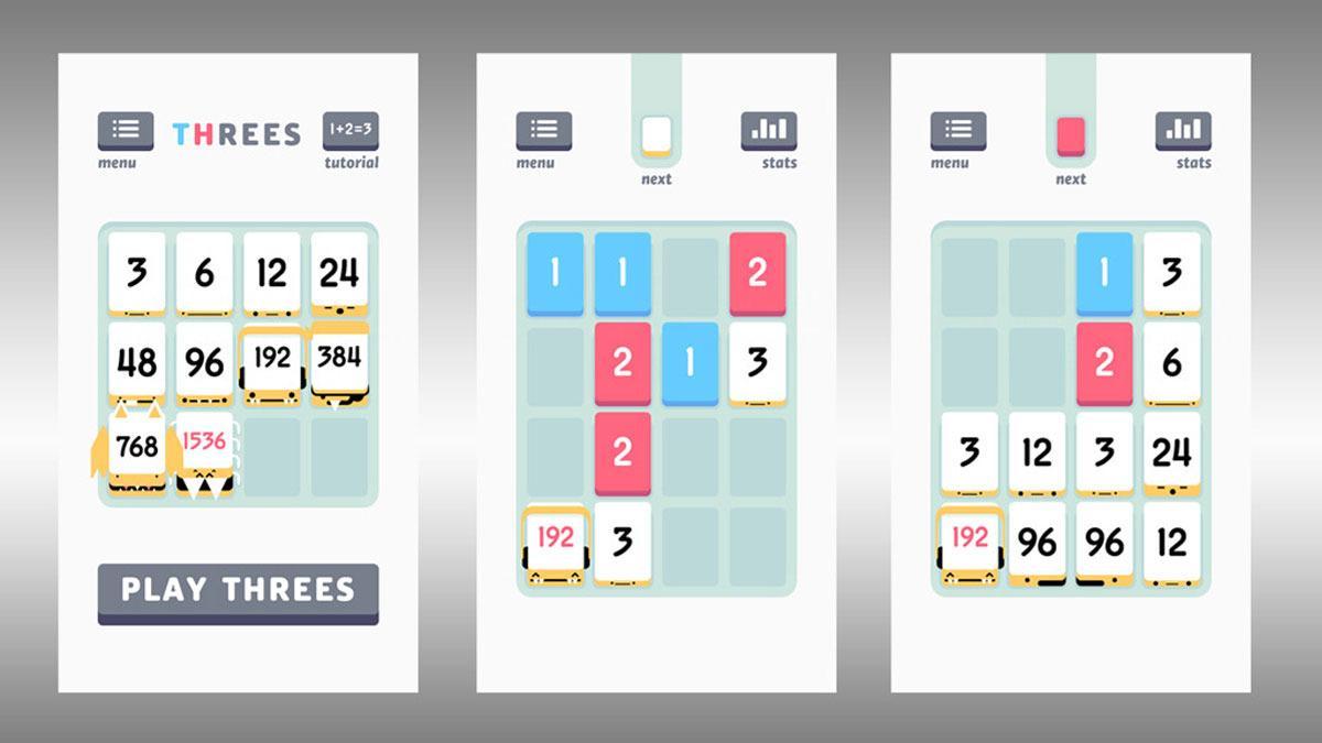 Teknofil-redaksjonen har samlet sett spilt godt over 2000 runder med mobilspillet Threes! Nå har vi begynt på rehab.Foto: skjermbilder
