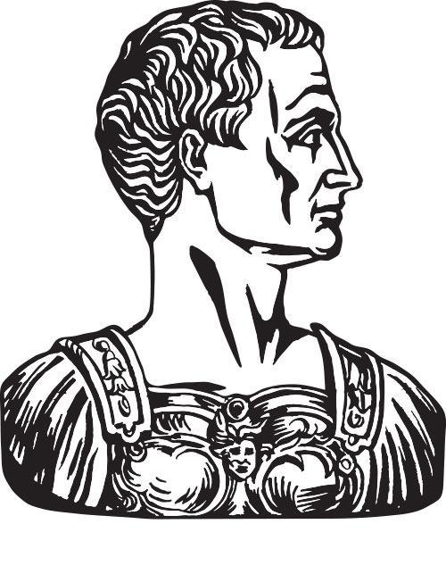 Julius Caesar var blant de første som tok i bruk kryptering.Foto: Shutterstock