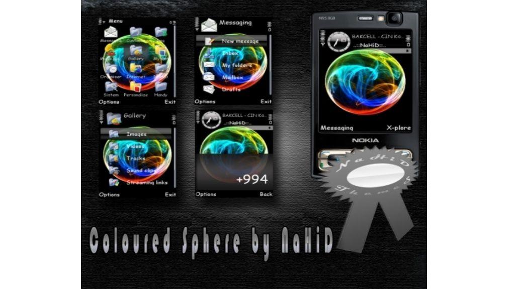 Coloured sphere mobiltema