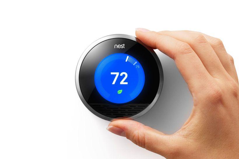 Den glupe termostaten til Nest.Foto: Nest