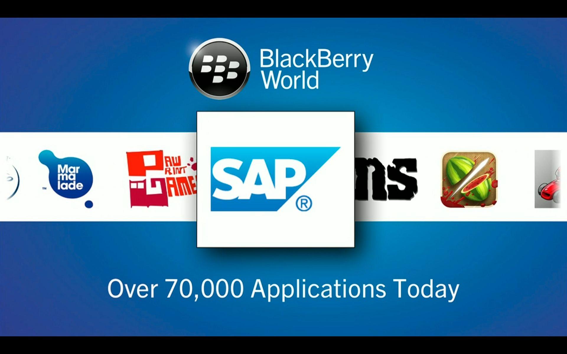 BlackBerry fokuserte veldig på at du ikke vil mangle apper. Det er imidlertid noen av utviklerne som bare har lovet støtte foreløpig.