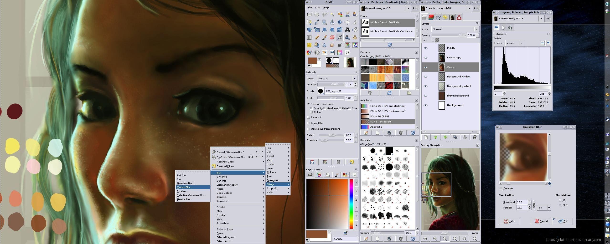 Foto: Skjermdump fra GIMP