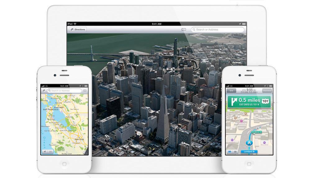 iOS 6 får helt nye kart, utviklet av TomTom.Foto: Apple
