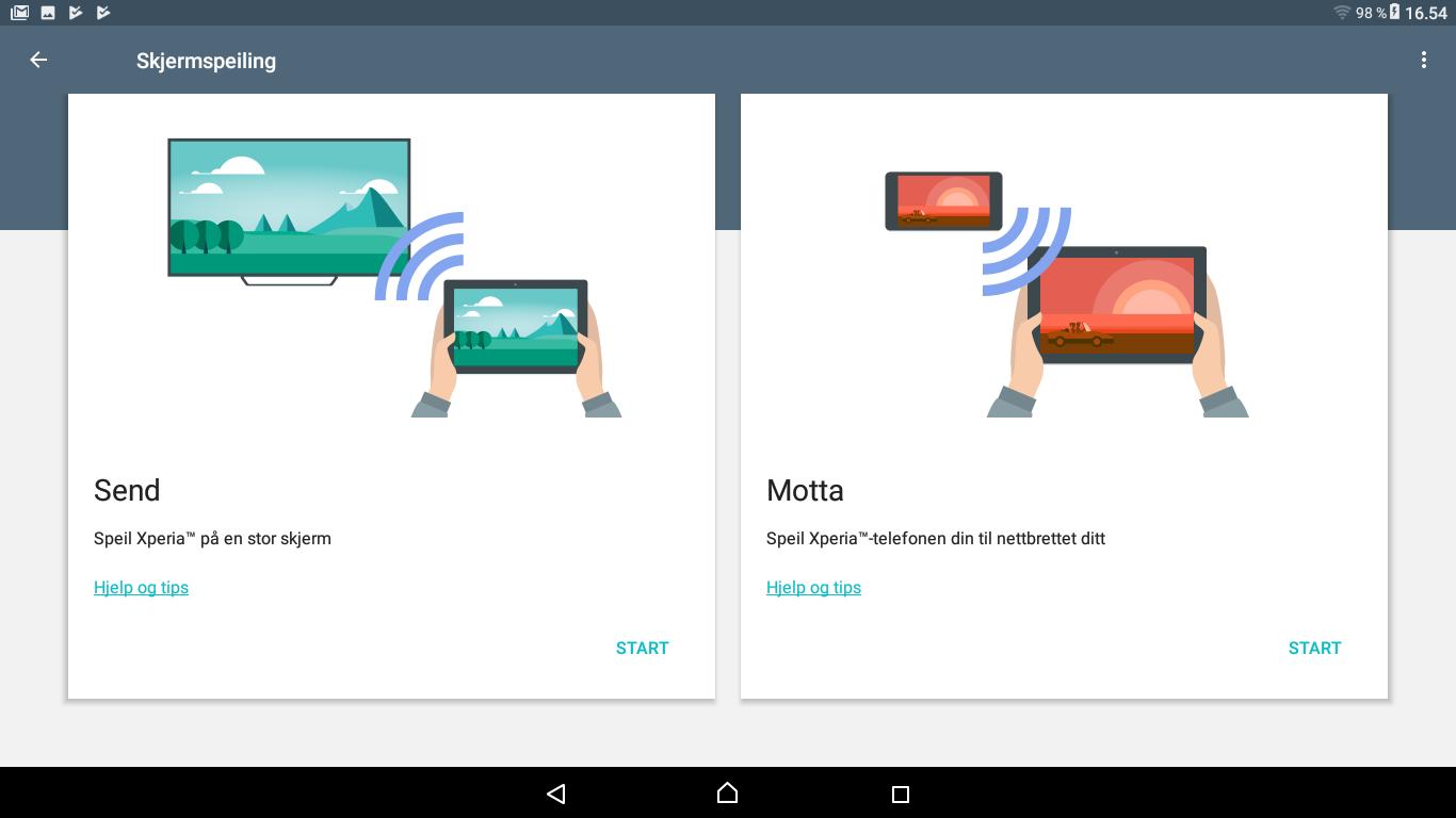 Å koble til egne enheter, eller å sende bilde fra Xperia Touch til andre, går som en lek. Her har Sony gjort en liten innsats.
