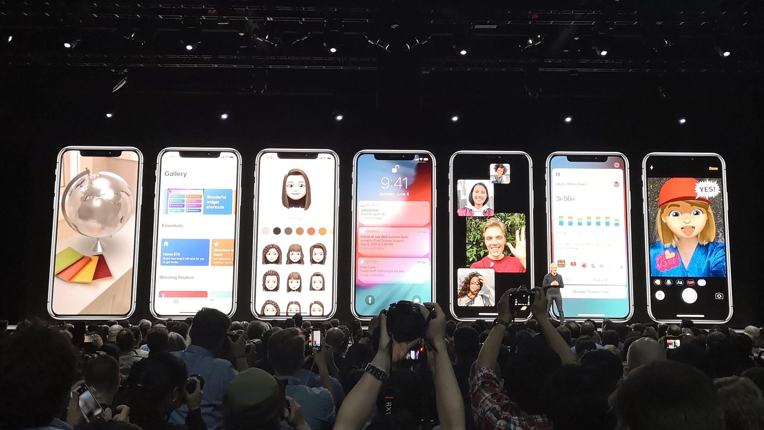 Bilde tatt fra tidligere Apple-lansering.