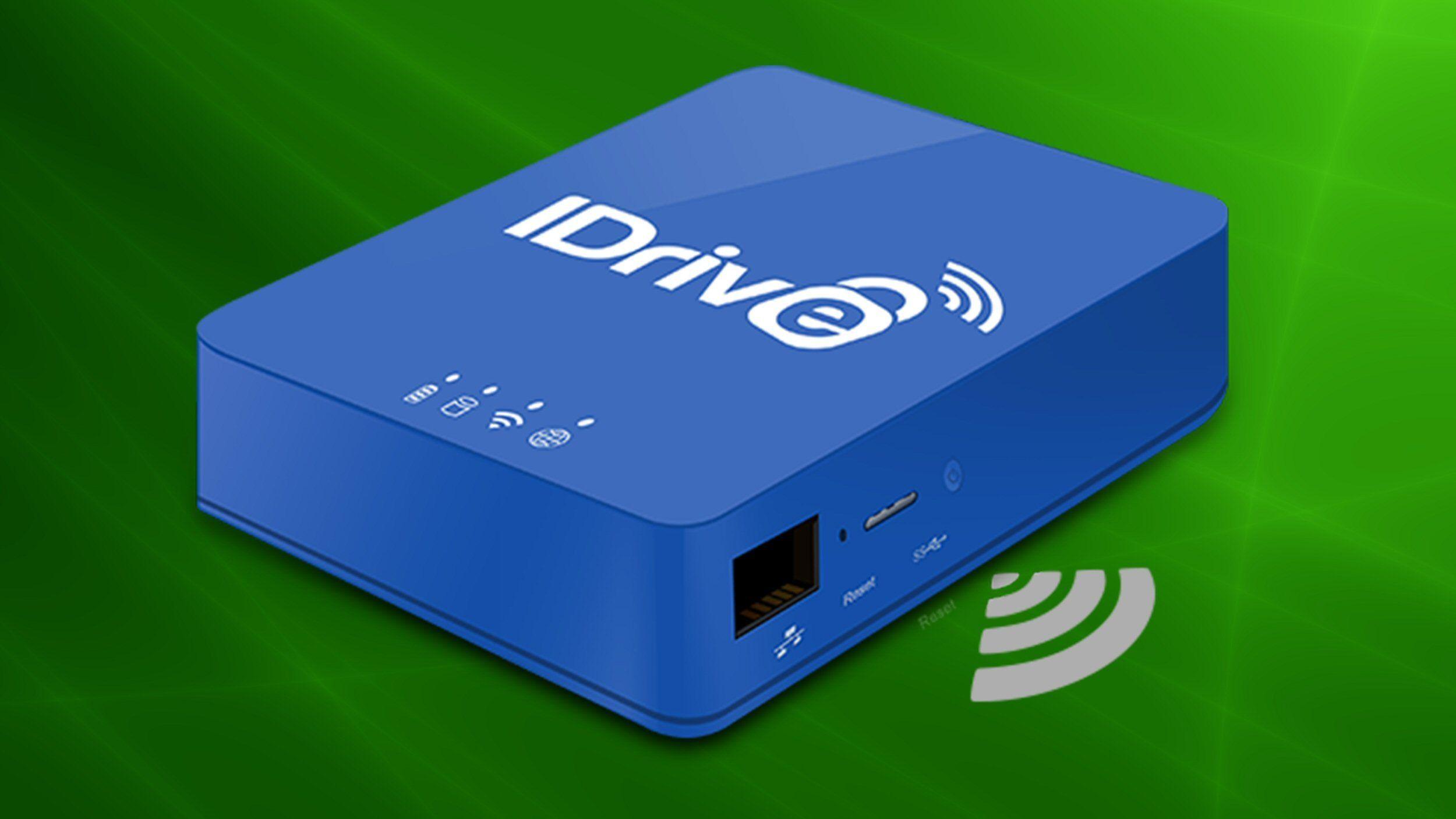 IDrive slipper «3-i-1»-disk for hjemmenettverket