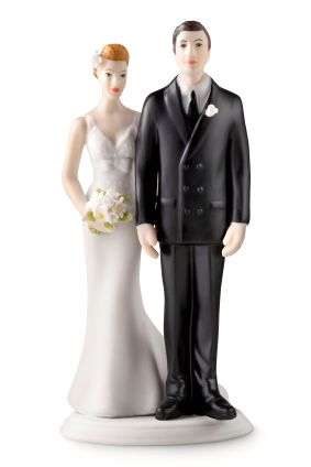 Ser ikke dette brudeparet litt... stive ut?