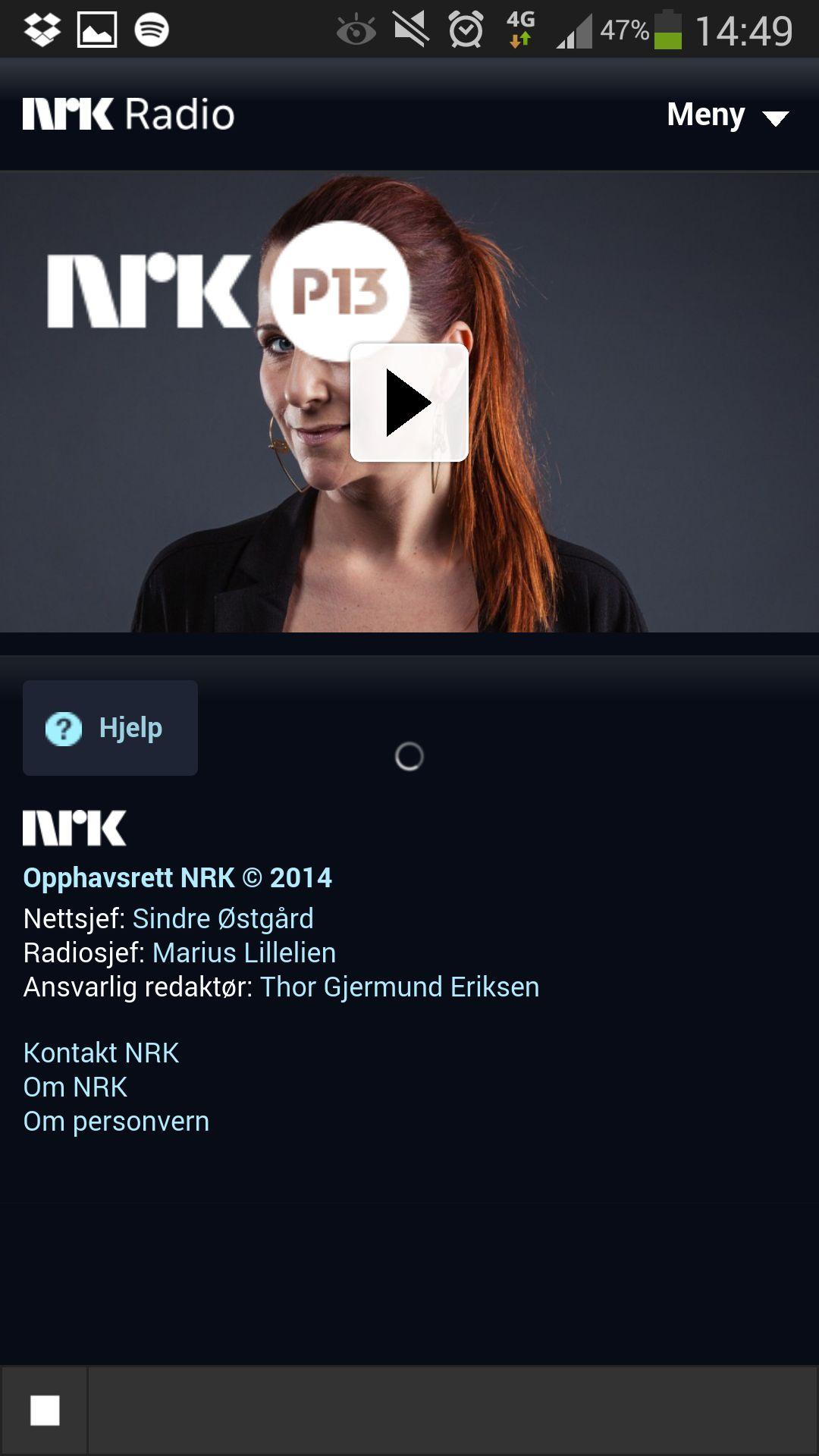 Det er ikke alle radio-apper som fungerer like bra. Dessverre er NRKs app en av disse. Det er for eksempel ikke opplagt om den er i ferd med å spille radio, eller om den har låst seg.Foto: Finn Jarle Kvalheim, Amobil.no