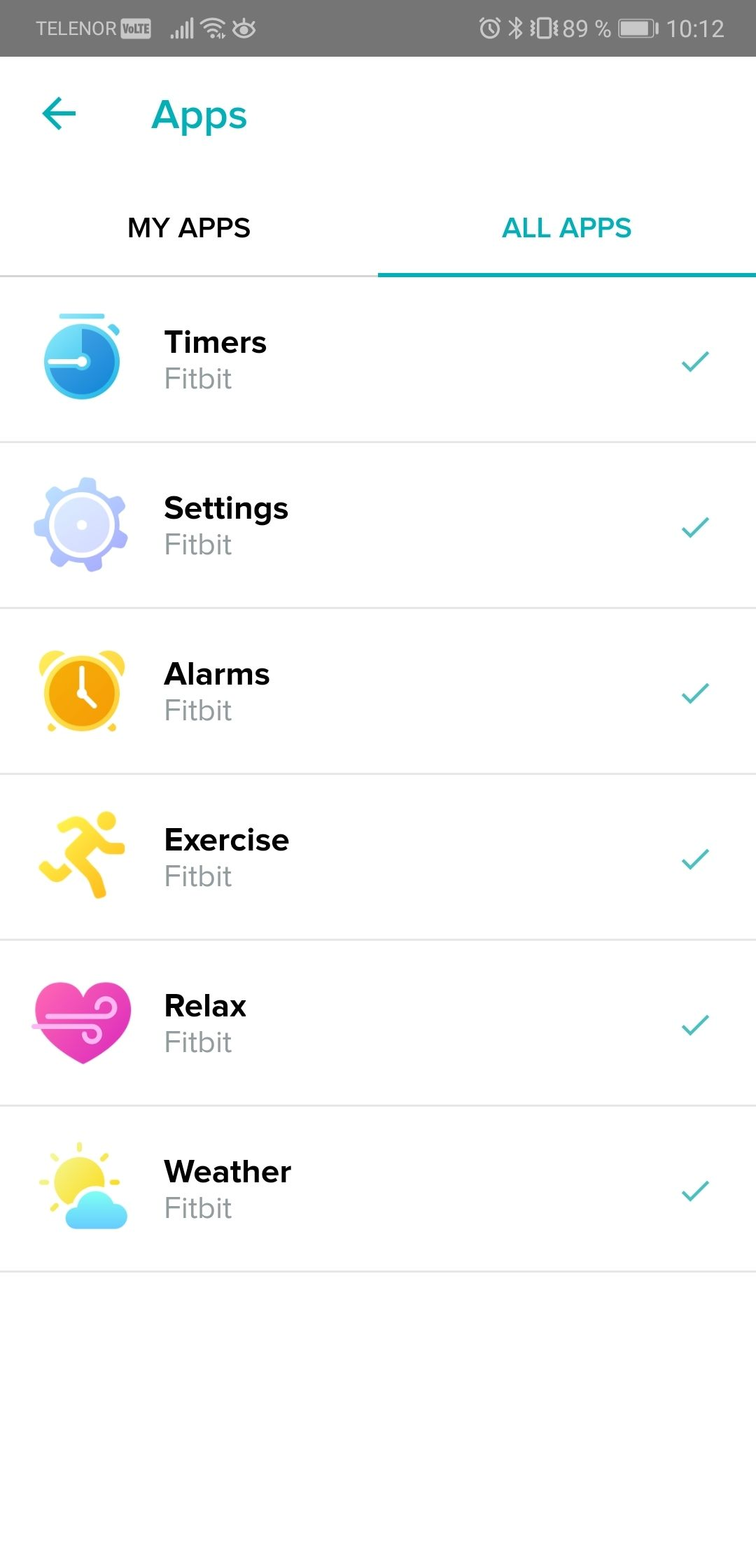 Det er få apper du kan legge til. Her ønsker vi oss flere alternativer.