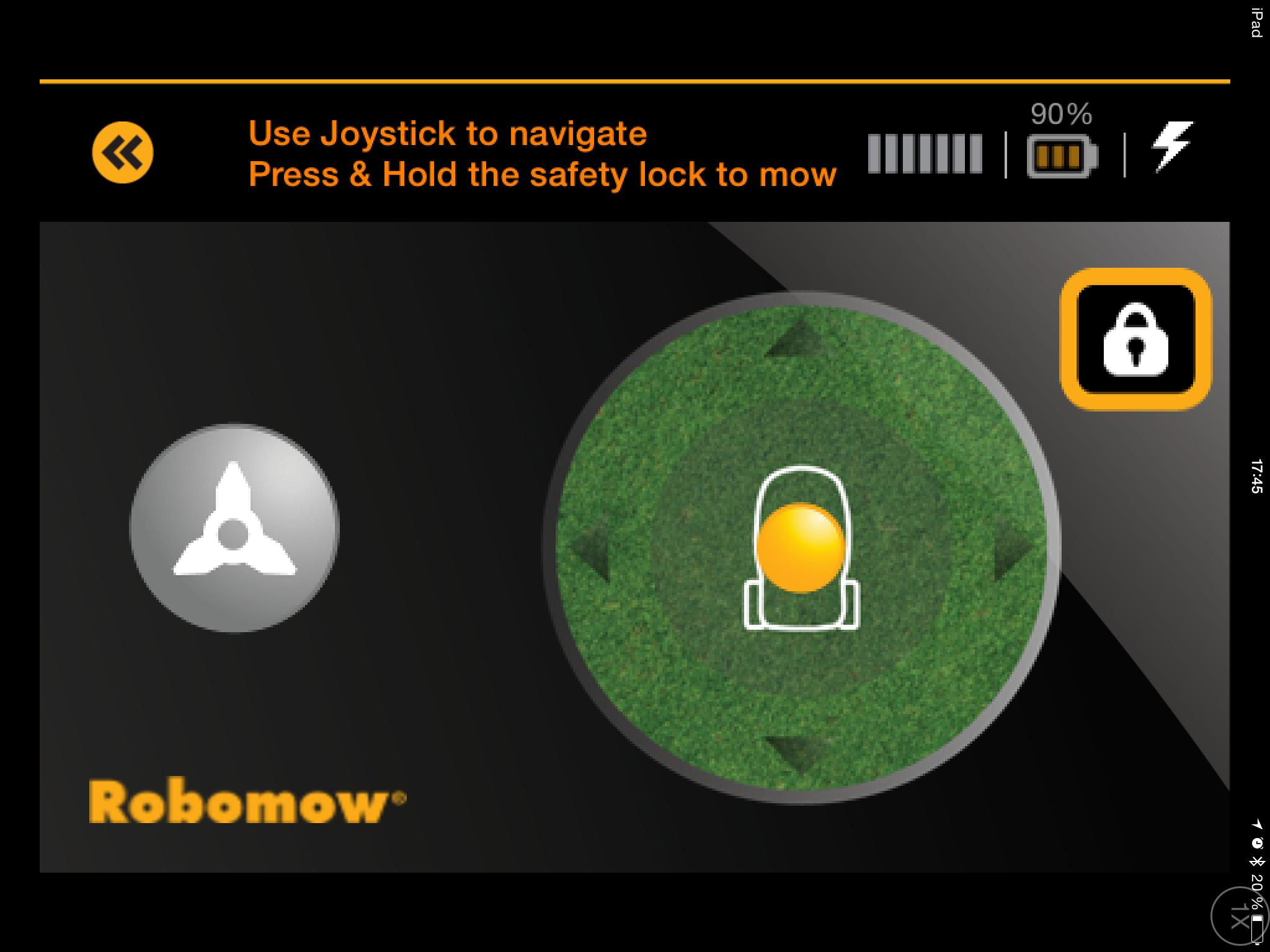 Ørn, ørn! Slik styrer vi Robomow fra en iPad. Appen er ikke perfekt, men den får jobben gjort.Foto: Finn Jarle Kvalheim, Amobil.no