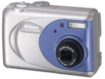 Mitt første digitalkamera, Nikon Coolpix 2000.