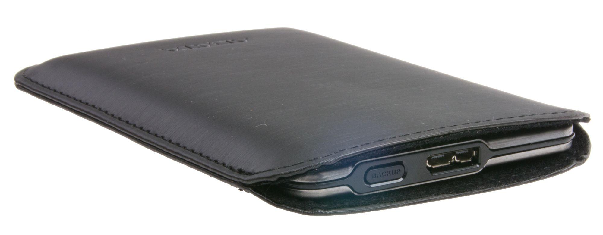 Inne i etuiet ligger SSD-en med god beskyttelse.Foto: Rolf B. Wegner, Hardware.no