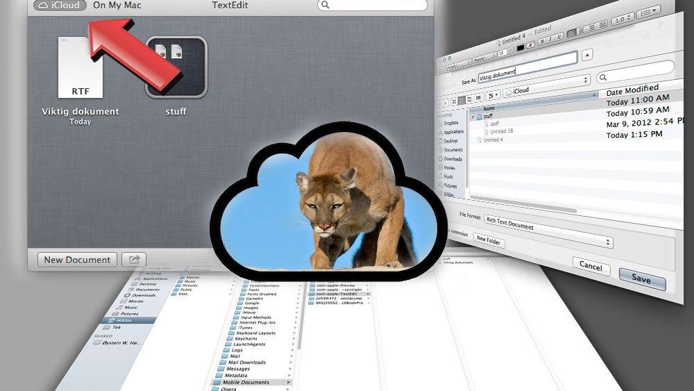 iCloud i Mountain Lion