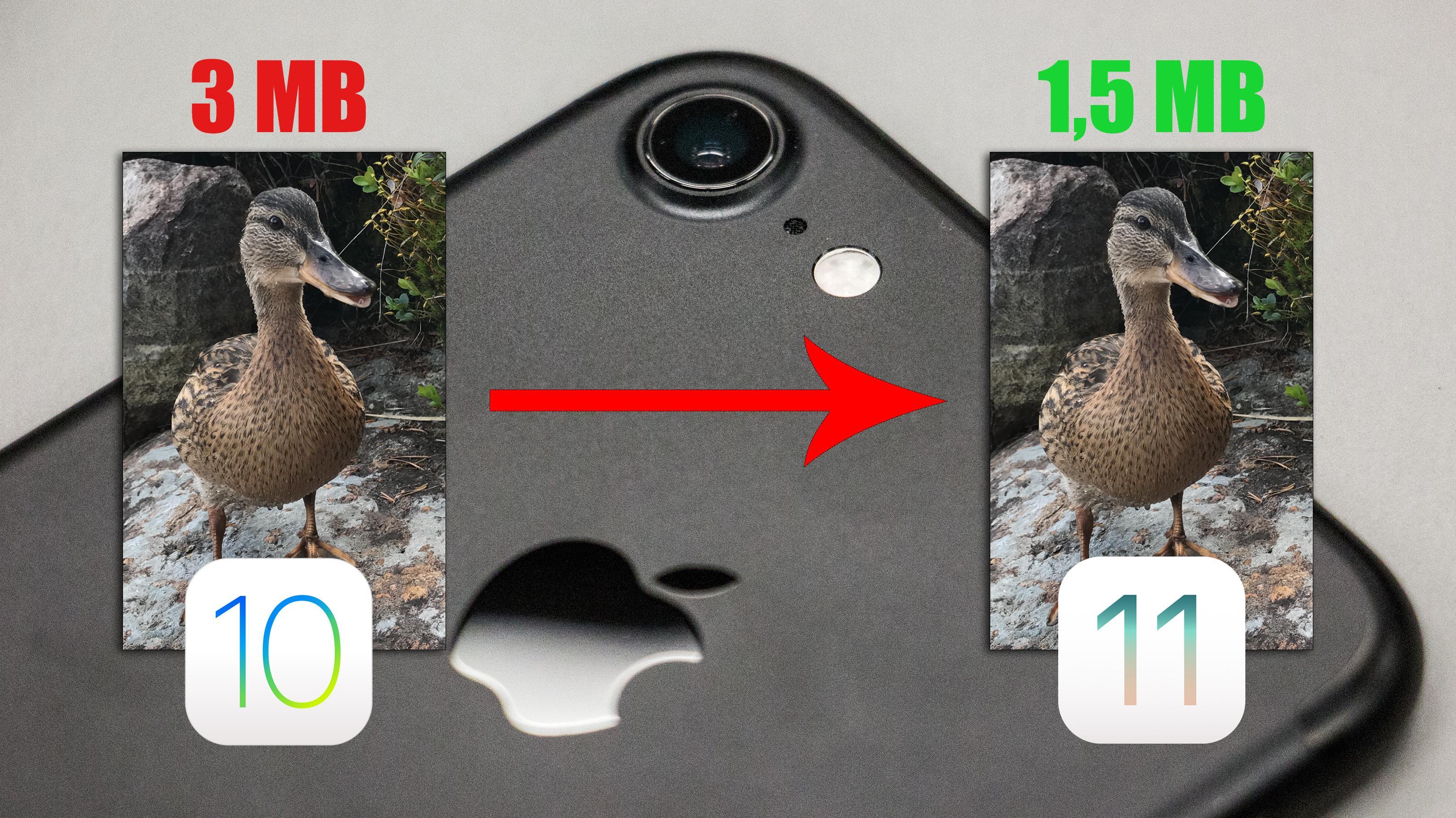iOS 11 gir deg dobbelt så god plass til bilder og videoer