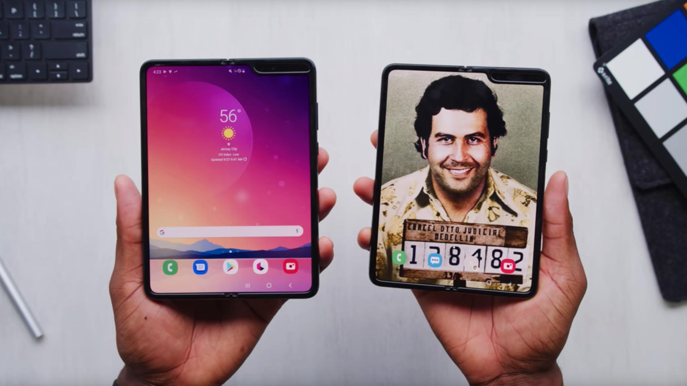 Escobar Fold 2 er en Samsung Galaxy Fold med gullfolie på, konkluderer Marques Brownlee.