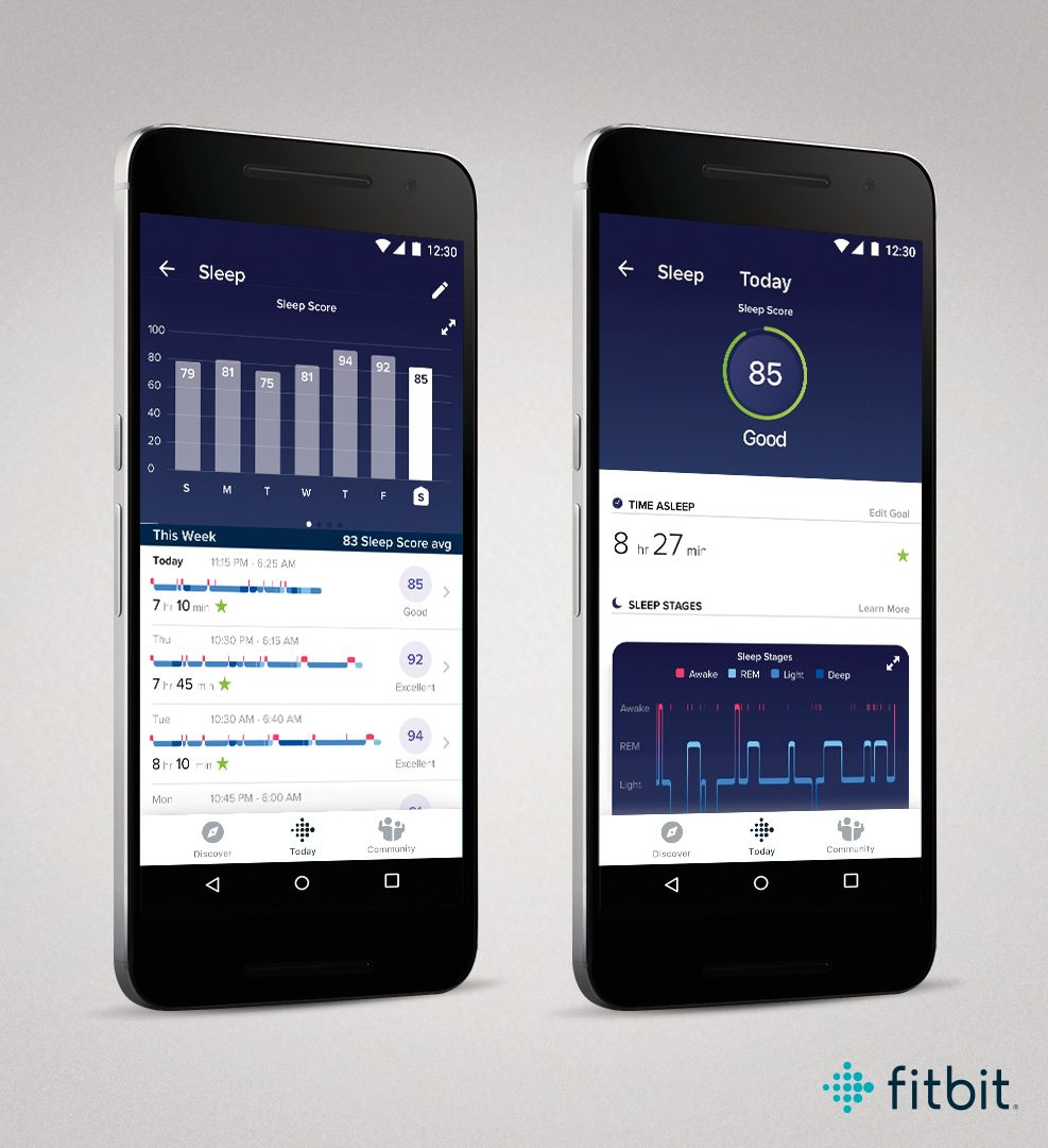 Slik ser appen ut når du får Sleep Score.