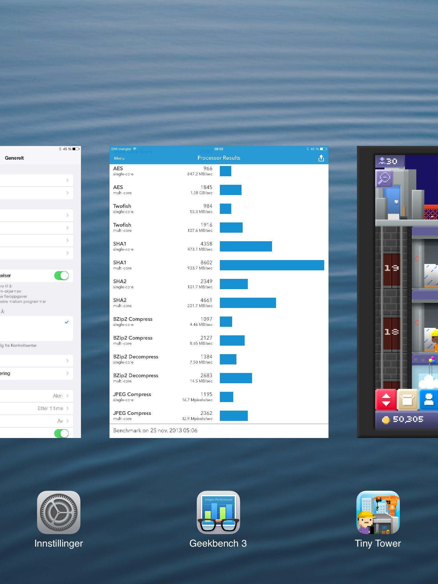 Slik ser oppgaveveksling ut i nye iOS 7.Foto: Finn Jarle Kvalheim, Amobil.no