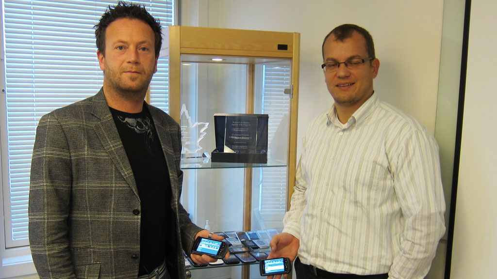 Norsk innholdsportal for BlackBerry Tek.no