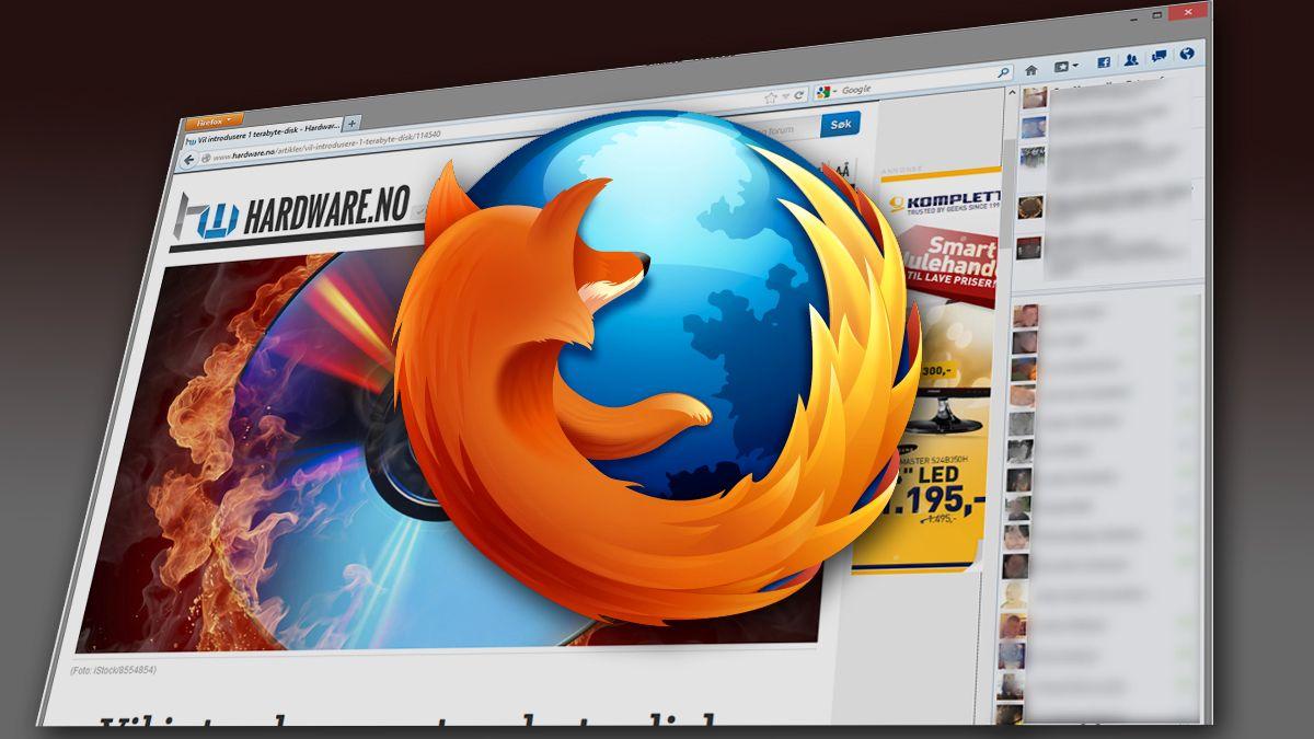 Her er nyeste utgave av Firefox