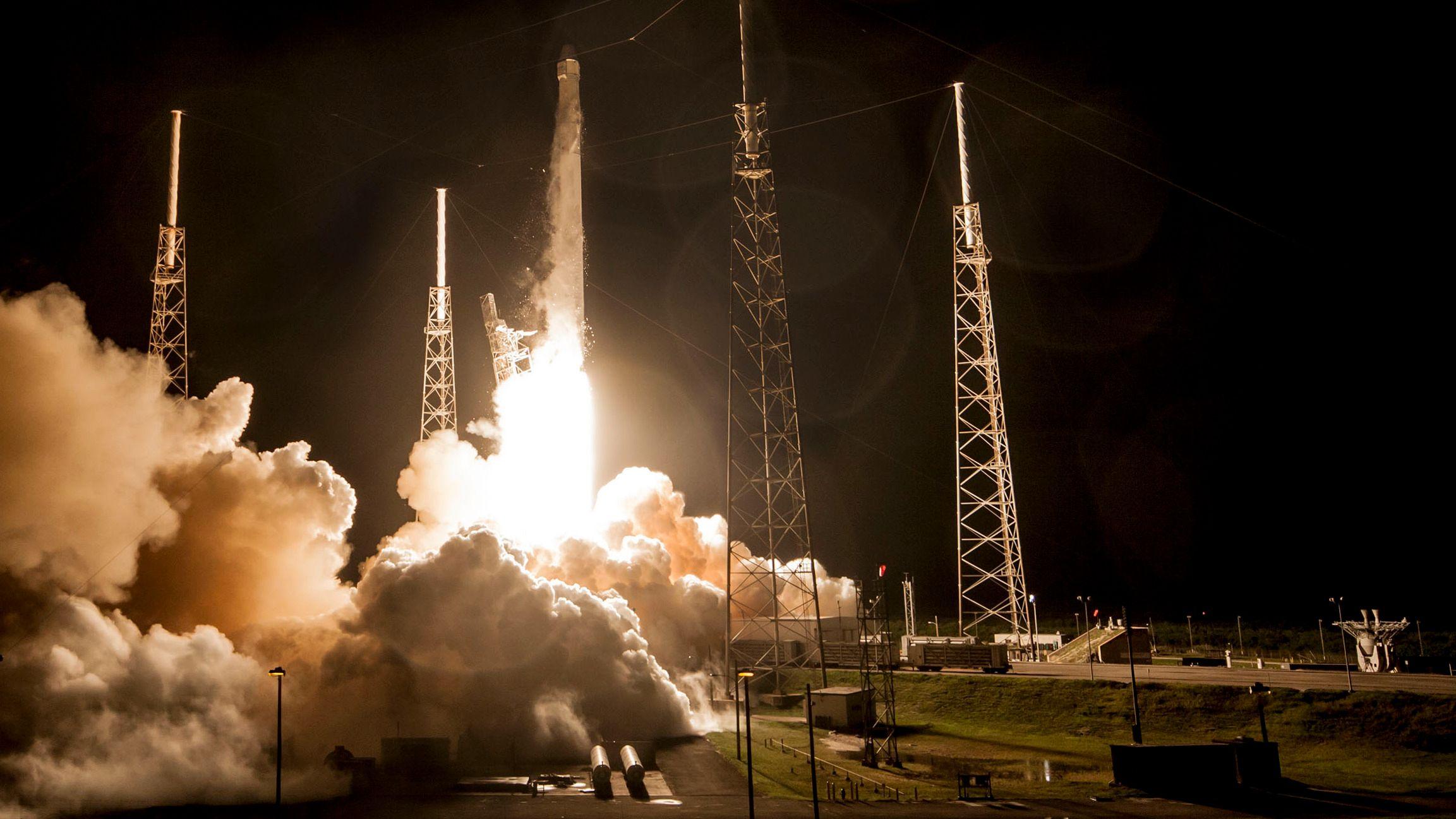 Space X avbrøt nedtelling på grunn av vindforhold