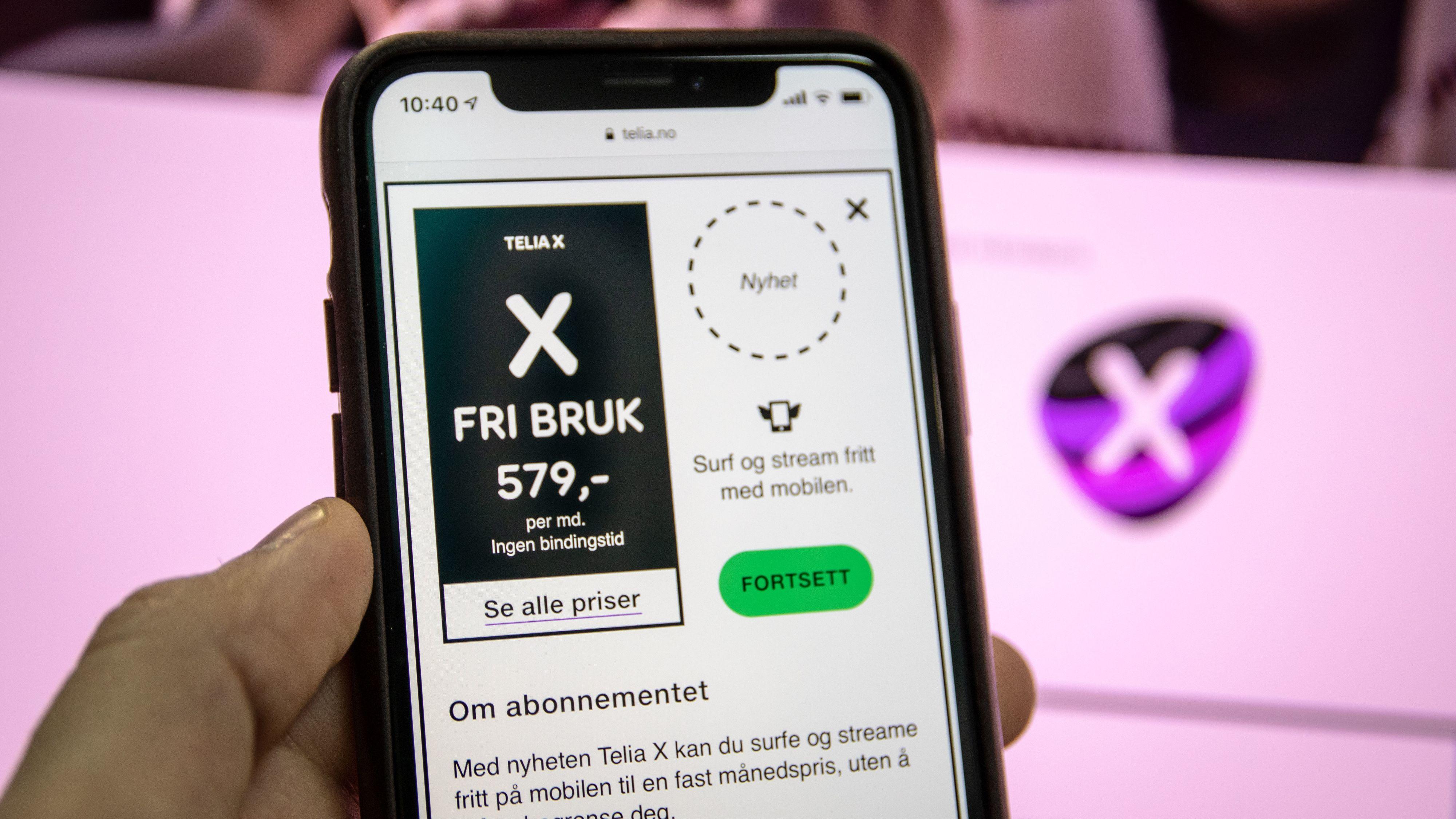 Telia lanserer «Fri data»-abonnement kalt Telia X