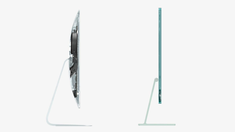 Den gamle iMac 21,5 til venstre. Nye iMac 24-tommer til høyre.