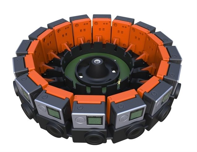 Plass til 16 GoPro-kameraer. Foto: GoPro